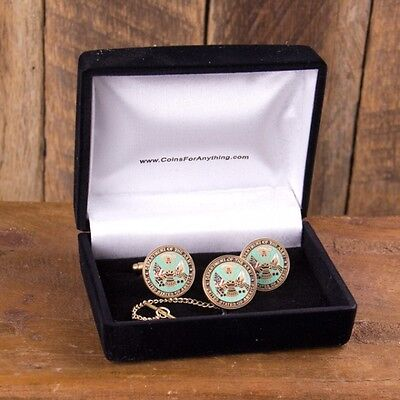 U.S. Army Cuff Links and Tie Tack in Gift Box