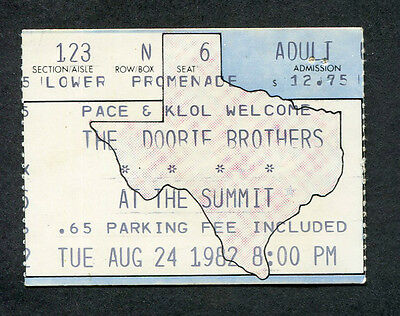 1982 Doobie Brothers Concert Ticket Stub Houston TX Michael McDonald Minute by