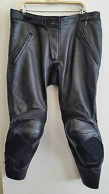 Clover Leather Motorcycle Trousers Black Eu 56 Uk 38-40