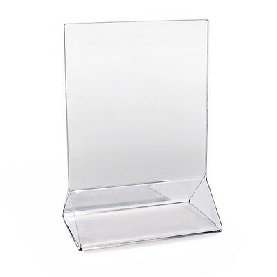 New Star Foodservice 22919 Acrylic Table Menu Card Holder, 3.5 by 5-Inch, Clear,