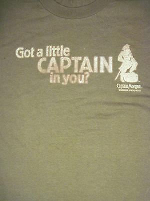 "L brown ""GOT A LITTLE CAPTAIN IN YOU"" RUM t-shirt by CAPTAIN MORGAN"