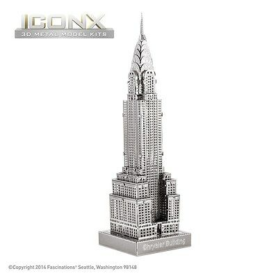 Fascinations Metal Earth Chrysler Building ICONX Laser Cut 3D Model