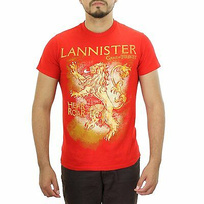 Game of Thrones House Lannister Hear Me Roar Sigil Crest Men's T Shirt S 2XL