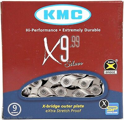 KMC X9.99 9-Speed Bicycle Chain XSP fits Shimano Sram Campagnolo - Road MTB CX