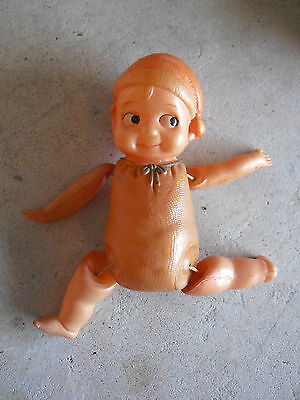 "Vintage 1930s Japan Celluloid Googly Sitting Position Girl Doll 5 3/4 "" Tall"