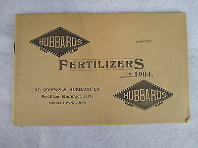 1904 Hubbards Fertilizers Catalog - Middletown Connecticut