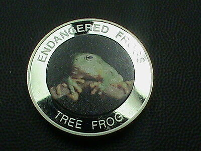 MALAWI  10 kwacha  PROOF 2010  WHITE'S  TREE  FROG    Colorized   scuffing