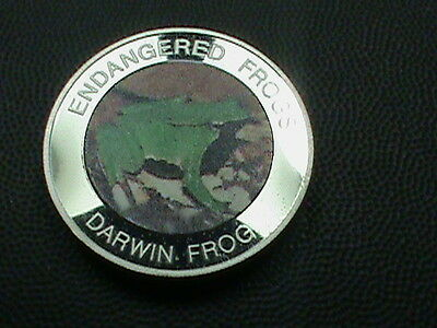 MALAWI  10 kwacha  PROOF 2010  DARWIN  FROG    Colorized   scuffing