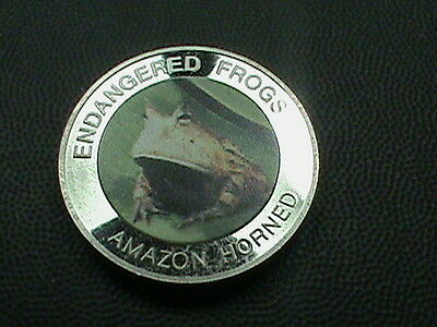 MALAWI  10  Kwacha  PROOF 2010  AMAZON  HORNED  FROG    Colorized   scuffing