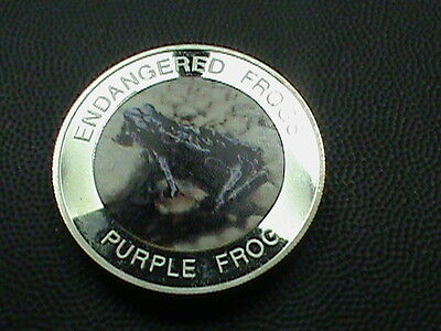 MALAWI  10  Kwacha   PROOF   2010  PURPLE  FROG    Colorized   scuffing