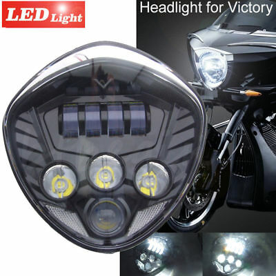 Motorcycle 40W Cree LED Headlight lamp Black H/L Beam For Victory cross-country