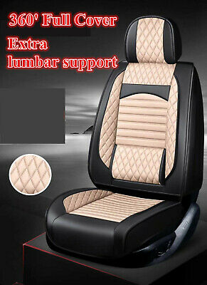 Black White leather Car Seat Covers Corolla Toyota Camry Rav4 Altise Aurion