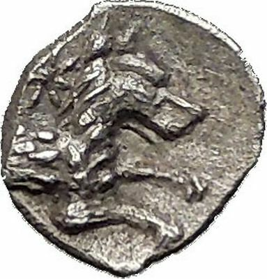 LARANDA in LYCAONIA 400BC Hercules Wolf RARE Ancient Silver Greek Coin i55607
