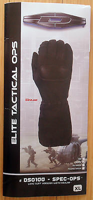 Damascus Long Cuff Elite Tactical Gloves With Kevlar - Xl. Free Shipping!!