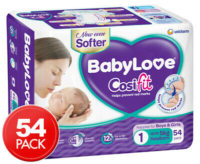 BabyLove Newborn Cosifit Nappies 0-5kg 54pk