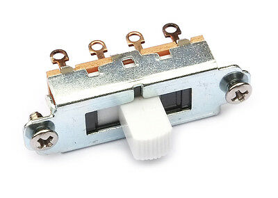 Switchcraft Slide Guitar Switch • 3-Way (Duosonic/Mustang Style) • White Tip
