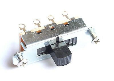 Switchcraft Slide Guitar Switch • 3-Way (Duosonic/Mustang Style) • Black Tip