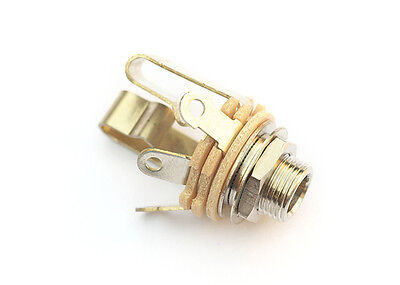 Switchcraft Guitar Output Jack Socket • Stereo • Nickel