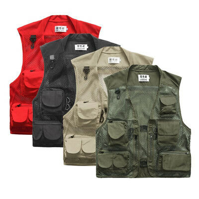 Men Outdoor Multi-Pocket Vest Travelers Fly Fishing Photography Quick-Dry Jacket