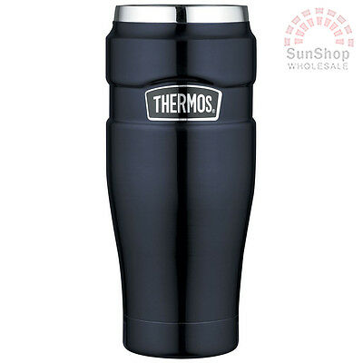 THERMOS Stainless King 470ml Vacuum Insulated Tumbler Midnight Blue! RRP $49.99!