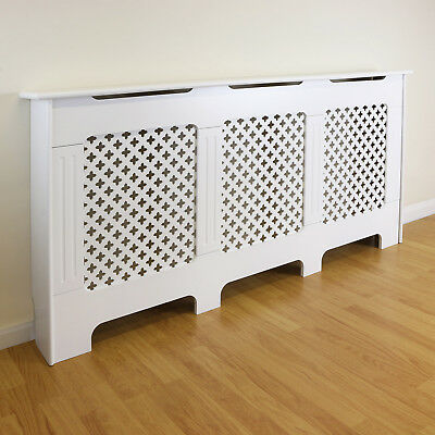 White Traditional/Classic Extra Large Size Radiator Cabinet/Cover MDF Wood Case