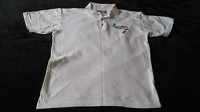 Rare - White Guinness polo shirt with embroidered pelican Large 44/46 inch