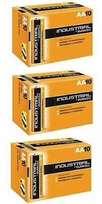 30 X Duracell AA Industrial Battery MN1500 Alkaline Replaces Procell Expiry 2023