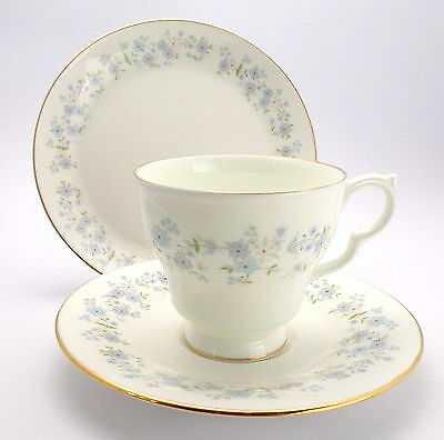 Royal Vale Vintage Bone China Trio, Tea Cup Saucer and Teaplate, Small  Flowers