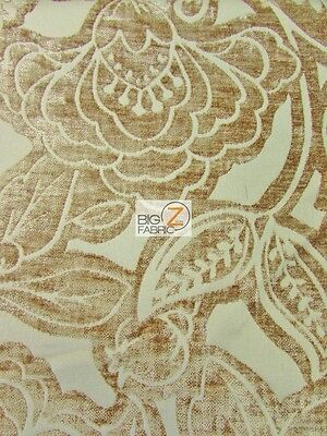 Floral Kingdom Chenille Upholstery Fabric Linen By Yard Drapery