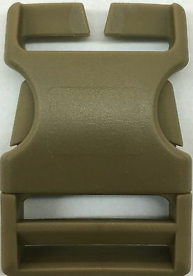 "Usmc Coyote Tan Ilbe, Backpacks, Mtv Buckles  2 3/4"" X 1 3/4"" New"