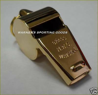 Hwc Police Security Whistle >Gold< Plated Brass