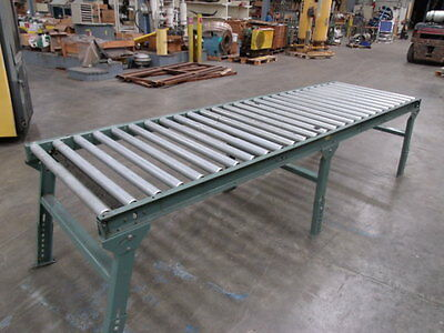 "Hytrol Adjustable Leg Roller Conveyor  1 Section 10"" long 3"" wide  with stand"