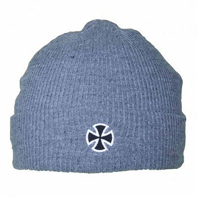 Independent - Cross Fold Over Beanie Grey