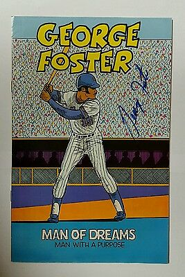 signed autographed 1982 GEORGE FOSTER Man of Dreams NY Mets comic