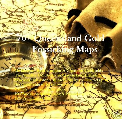 CD - Gold - 70 Queensland Maps + 15 eBooks & 180 Pics