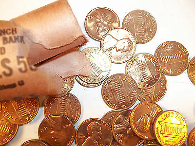 1BU UNC roll 1962-P Lincoln Memorial Penny.Nicely toned. Most are bank roll
