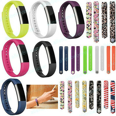 Replacement Silicone Wrist Band Strap For Fitbit Alta Small / Large Band Size