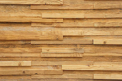 Antique Wall Cladding Reclaimed Wood Paneling Recycled 3D Vintage Covering Panel