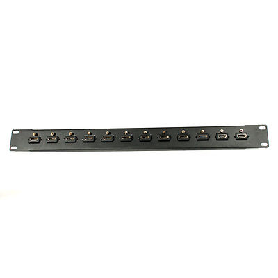 19 inches 12-Port HDMI Interface Patch Panel - Monoprice