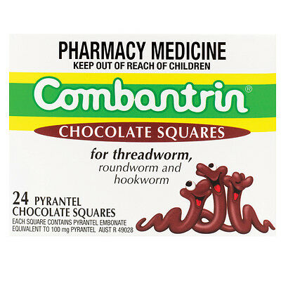Combantrin Chocolate Squares 24 tablets
