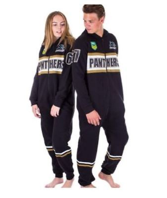 Penrith Panthers Nrl Team Adult Footysuit Unisex Pyjamas Pjs Winter Clothing