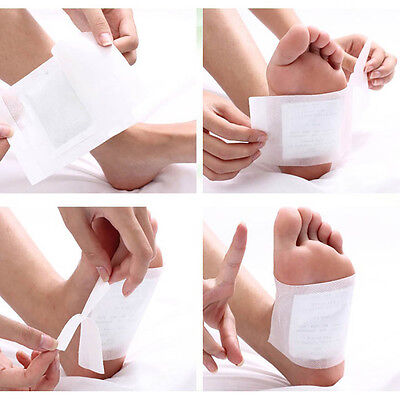 10x Tool Detox Foot Pads Patch Detoxify Toxins Adhesive Keeping Fit Health Care