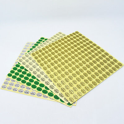 Quality Control QC Passed Labels Stickers Adhesive Label Oval Shape 0.9cmx1.3cm