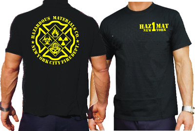 "T-Shirt, navy, ""HazMat Co.1"" (Gefahrguteinheit) New York City"