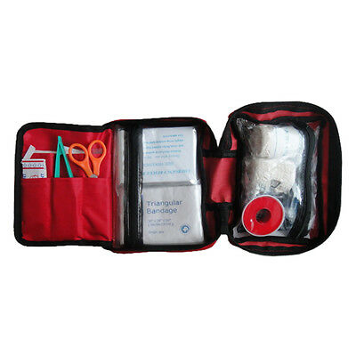 First Aid Kit Set For Outdoor Emergency Survival Car Treatment Pack Bag PK