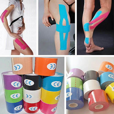 5M*5CM Kinesiology Elastic Tapes Roll Sports Physio Muscle Strain Injury Support