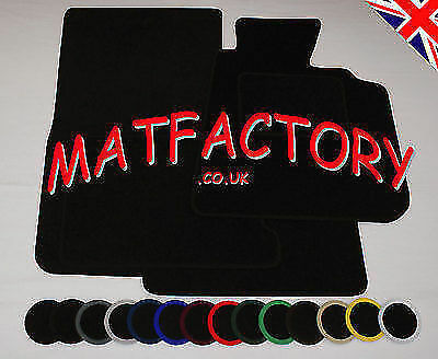 MG TF 2002-2005 black tailored car mats M141 COLOURED BINDING