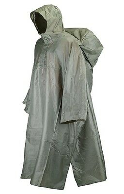 Trekmates Waterproof Deluxe Packable Pak Poncho - Olive