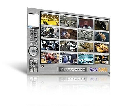 Moxa SoftCMS-200 200-channel video management software for large scale industria