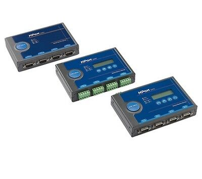 Moxa NPort 5450 4 port device server, 10/100M Ethernet, RS-232/422/485, terminal
